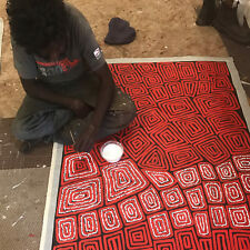 "AUSTRALIAN ABORIGINAL ART PAINTING by THOMAS TJAPALTJARRI ""TINGARI CYCLE"", WIP"