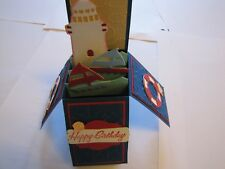 Sailing Ships Birthday Lighthouse pop up box Handmade Card Kit w/some stampin up