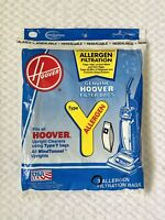 Genuine Hoover TYPE Y Upright Cleaner Vacuum Filter Bags 3 Bags New Sealed