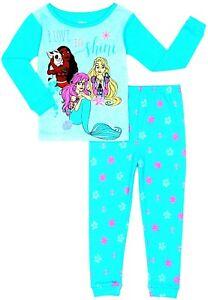 DISNEY PRINCESS Girls Cotton Snug-Fit Pajamas Sleepwear Set NWT Toddler's 3T