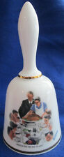 "Vintage West Germany 1976 Danbury Mint Norman Rockwell Bell ""Freedom From Want"""