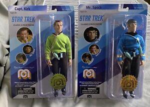 Mego STAR TREK Captain Kirk + MR. SPOCK 8'' Action Figure NEW Limited