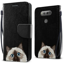 For Lg V20 Vs995 H990 Ls997 Id Card Leather Flip Wallet Kickstand Pouch Case