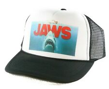 New Jaws the movie Trucker Hat mesh hat snapback hat Black