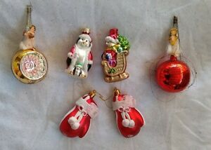 Mercury Glass Boxing gloves Angels Dog cat    Christmas Ornaments   FAST SHIP