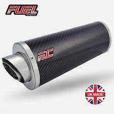 Scrambler 2014+ F1R Road Carbon Oval Midi UK Road Legal Exhaust + Black Bracket