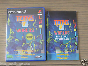 JEU PLAYSTATION 2 PS2    TETRIS WORLDS    COMPLET EN FRANCAIS