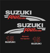 Adesivi motore marino fuoribordo Suzuki 15 hp four stroke