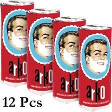 12x ARKO Shaving Soap Stick, Barber Creamy Lather Foam Safety Razor Brush Shave