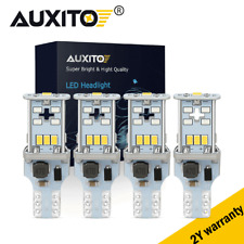 4Pcs 2400LM  LED T15 921 W16W Tail Backup Reverse Light Bulbs 6000K Xenon White