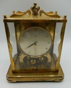 Antique Schatz 1000 Day Clock Brass Mantel Clock Germany For Parts Heavy