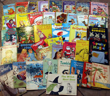 Lot of 41 Vintage Children's Books Little Golden Scholastic Rand McNally Wonder