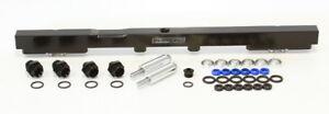 AEROFLOW Billet EFI Fuel Rails (Black) Suit Toyota 2JZ (14mm Injectors)