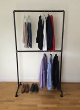 Industrial clothing shelf storage unit heavy duty from galvanised iron in black