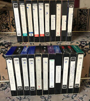 USED Recordable Blank VHS Tapes Lot of 21 Babylon 5 With Commercials 1990s
