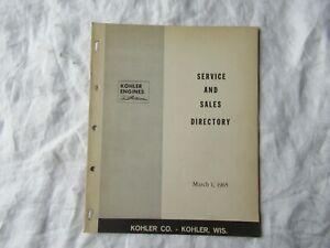 1965 Kohler engines dealer service and sales directory catalog