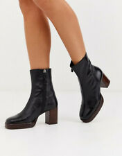 👢 ASOS Renunion Real Leather Platform Boots UK 7 👢