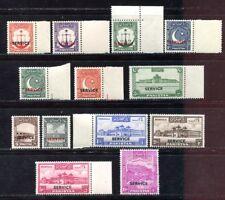 Pakistan 1948 Einheimische Motive Dienst D15-27 Officials Postfrisch MNH M€ 160