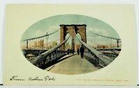 NY The Cables Brooklyn Bridge c1907 New York Postcard D18