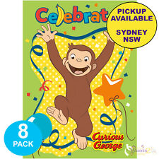 CURIOUS GEORGE PARTY SUPPLIES 8 BIRTHDAY INVITATIONS INVITES NEW