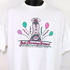 Clown T Shirt Vtg 80s 90s St Catherine Alexandria Parish Made In USA Mens 2XL