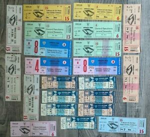 Collection of Athletic Club de Bilbao Unused Tickets 1976 to 1980's Inc UEFA CUP
