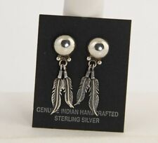 ESTATE Jewelry STORE SOUTHWEST NATIVE AMERICAN STERLING FEATHER DANGLE EARRINGS