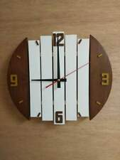 Wall Clock Wood Décor Home Rooms Battery operated Stilly Natural Art Delivery