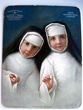 "1906 ""Antikamnia Tablets"" Advertising Calendar w/ Little Girls Dressed as Nuns *"