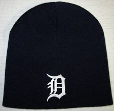 DETROIT TIGERS BEANIE ~SKULL CAP ~HAT ~CLASSIC MLB PATCH/LOGO ~COOL NAVY ~NEW