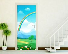 Adhesives Doors Sticker Port Wall Stickers Decoration Children Rainbow P104