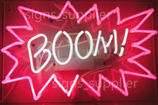 "New BOOM! Neon Sign Acrylic Gift Light Lamp Bar Wall Room Decor 15""x10"""