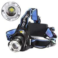 Rechargeable 2000Lm CREE XM-L T6 LED 18650 Zoomable Headlamp Headlight Torch WTC