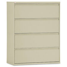 Alera Four-Drawer Lateral File Cabinet, 42w x 19-1/4d x 53-1/4h, Putty LF4254PY