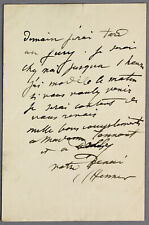 ALS letter French painter Jean-Jacques Henner mentioning pupil Dorothy Tennant