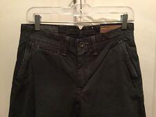 AMERICAN EAGLE NWT MENS 28/30 Relaxed Khaki Pants Cotton Slate