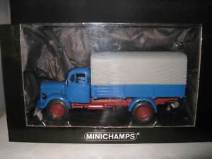 MINICHAMPS 1/43 MERCEDES BENZ L 3500 CANVAS TRUCK 1950 BLUE OLD STOCK 439 350020