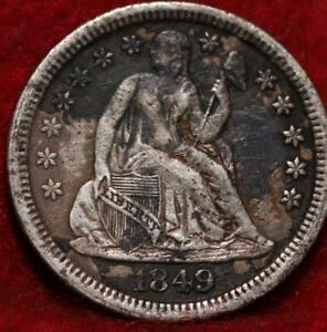 1849 Philadelphia Mint Silver Seated Liberty Dime