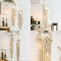 Handmade Bohemian Macrame Wall Hanging Tapestry Ornament Net Craft Home Decor