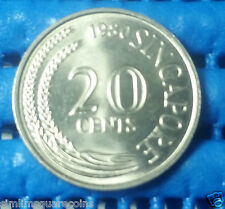 1980 Singapore 20 Cents Sword Fish Coin