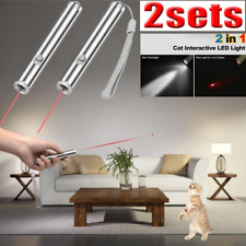 2Pcs Funny 2in1 Flashlight Red Laser Pointer Torch 650nm Cat Toy Red Lazer Light
