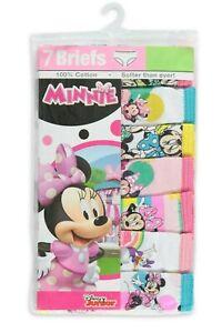 Disney Minnie Mouse 7-Pair Girls Briefs Panties Underwear Set Toddler Girl 2T-3T