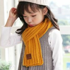 Ear Warmer Bandana Children Winter Scarves Woolen Knitted Color Scarf Neck Wrap