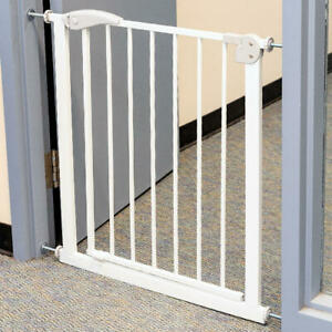 LIVINGbasics® Walk Thru Baby Safety Auto Close Stair Gate, 71*76*2.5 cm