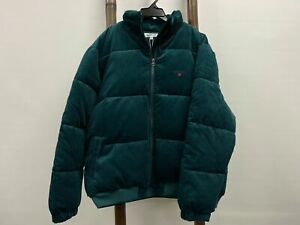 NEW Spencer Project Cord Puffer Jacket Forrest Green Mens Size XL RRP$ 189.95