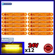 12 X 24V 9 LED ORANGE SMD SIDE MARKER LIGHT TRUCK MAN IVECO SCANIA CAMPER DAF