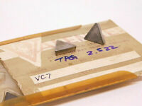 NEW SURPLUS 10PCS. VALENITE  TPG 2.522  GRADE: VC7  CARBIDE INSERTS