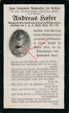 Nr-23068 Sterbebild deathcard. K.u.K. IR 59 1919 Gefangenschaft Albanien