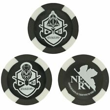 New listing Evangelion Golf Ball Markers Three Markers Black and White EVA GOLF