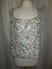 Marina by Marina Bresler 20W Silk Floral Sequin Beaded Cami Embroidered